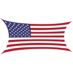 Stretched flag of America