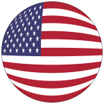 American Flag Orb With Stroke