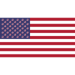 American Flag With Flag Circles