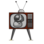 Vector graphics of an old TV receiver