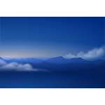 Blue horizon background vector image