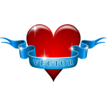 Vector ilmage of heart and ribbon