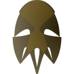 Vector image of tribal African mask