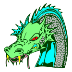 Angry green dragon