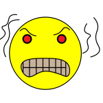 An angry emoticon