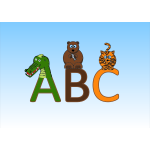 Animal alphabet vector illustration