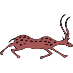 Vector image of antelope