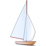 Comic sailboat