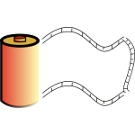 Vector image of red photo film roll
