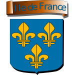 Vector graphics  of coat of arms of Ile de France