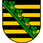 Vector image of a coat of arms of German state of Saxony