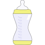 Vector image of baby bottle