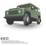 Vector graphics of 4 wheel drive vehicle
