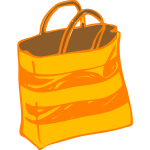 Vector clip art of beach bag