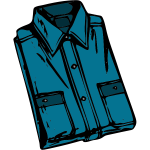Blue folded shirt vector image