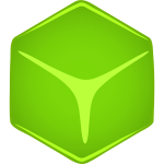 Vector graphics of cube