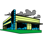 Vector illustration of shopping center