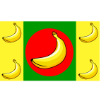 Banana Republic flag vector image