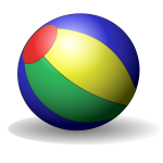 Beach ball vector clip art