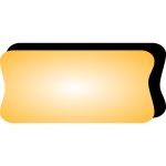 Vector graphics of yellow computer button