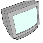 Vector graphics CRT computer monitor