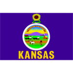 Vector graphics of flag of Kansas