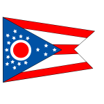 Flag of the state of Ohio vector illustration