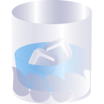 Vector illustration of a glass
