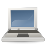 Color laptop icon vector image