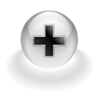 Plus computer button vector image