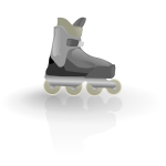 Rollerblade vector drawing