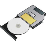 Slim CD drive vector illustration