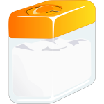 Sugarbox with orange lid vector image