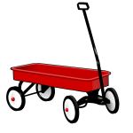 Toy wagon vector illustration
