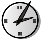 Simple analog clock vector graphics