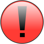 Warning notification sign vector image