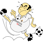 Vector graphics of cartoon soccer player