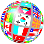 Globe shape with flags