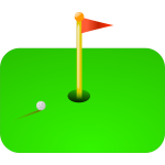 Golf flag vector illustration