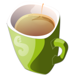 Vector clip art of green mug of tea
