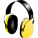 Vector image of headphones