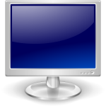 Blue LCD monitor vector image