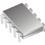 Microchip vector image