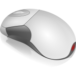 Grayscale PC mouse vector illustration