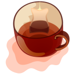 Vector clip art of mug of tea
