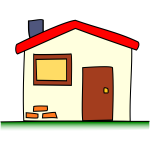 Simple house vector clip art image