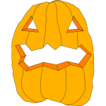 Cut Halloween pumpkin vector drawing
