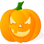 Scary toothless pumpkin vector image