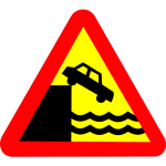 Danger quay road sign vector image