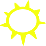Sunny weather symbol vector image
